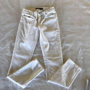 J Brand White Skinny Leg Jeans Size 26